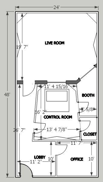 Sample Floor Plan Johnlsayers Com Music Studio Room Studio