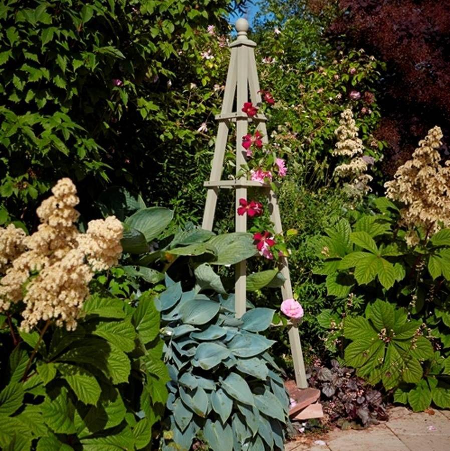 How to make a garden obelisk - Wooden Garden Obelisk In French Grey