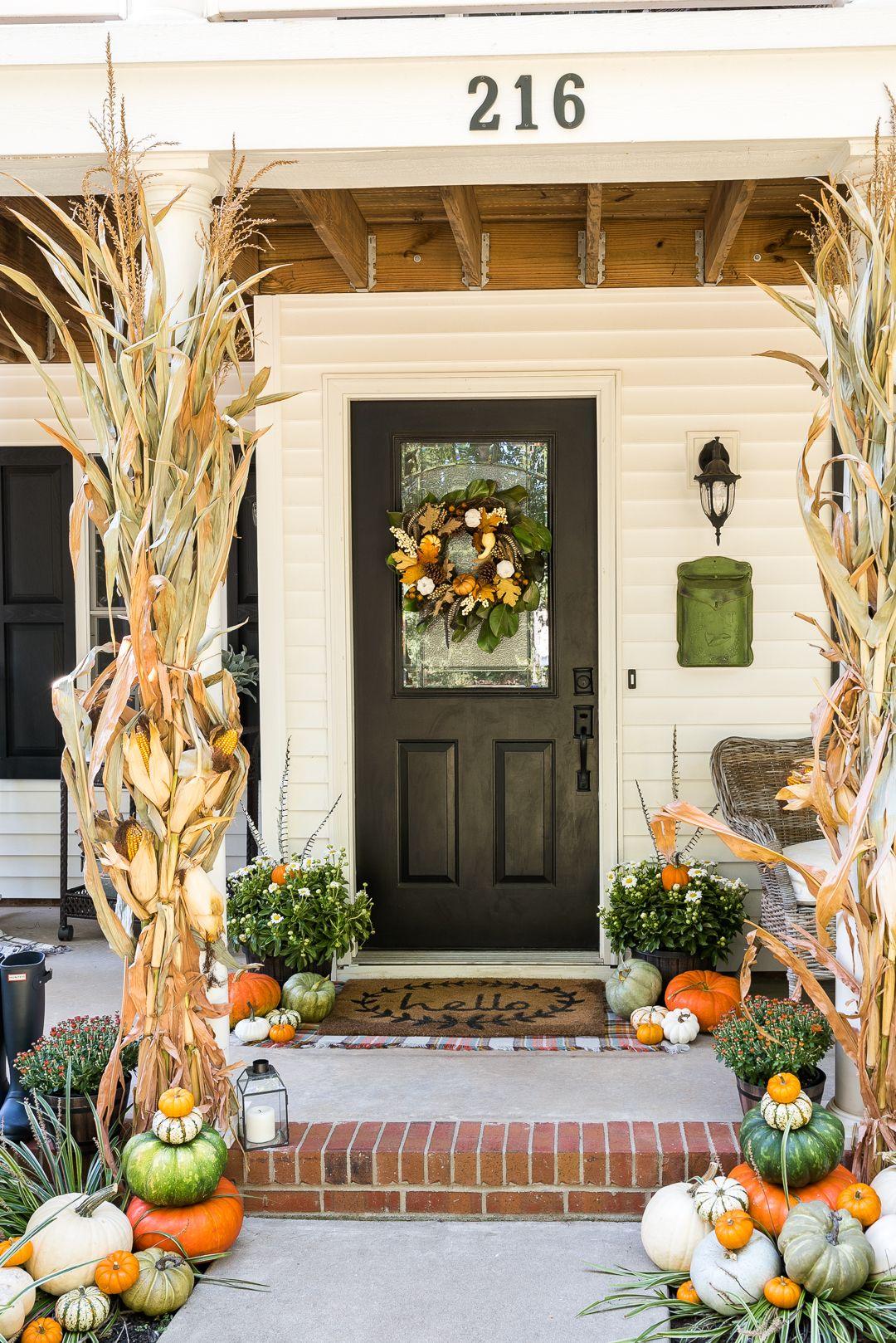 Traditional Fall Porch Fall Decorations Porch Fall Outdoor Decor Fall Porch