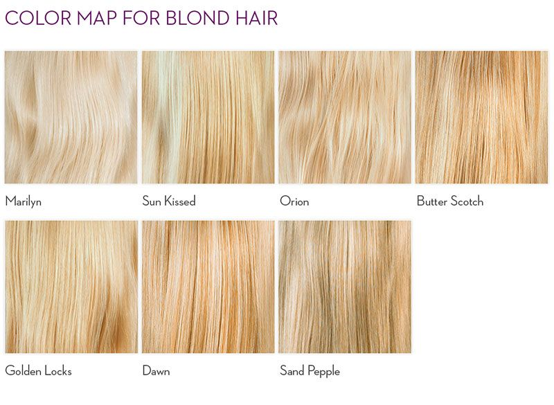 Blonde Haare Farbpalette Stilvolle Frisur Website Foto Blog