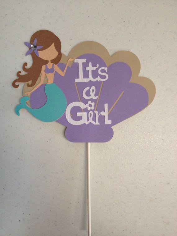 Mermaid Cake Topper Mermaid Baby Shower Cake By AngiesDesignz