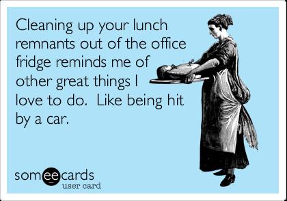 The office fridge - gross | Humor | Office refrigerator