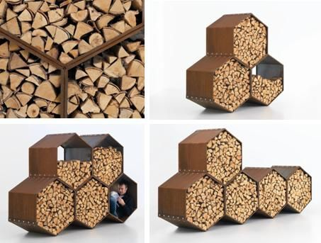 Lovely Harrie Leenders Wood Bee Outdoor Wood Storage Module   Would Like Three Of  Them For The Backyard.