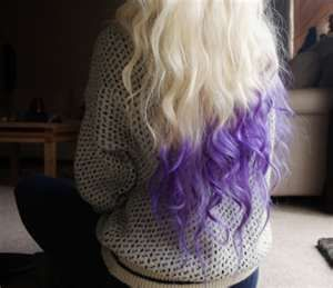 Single Color Hair Dipping Need To Get This Shade Of Purple Soon Dip Dye Hair Dipped Hair Long Hair Styles