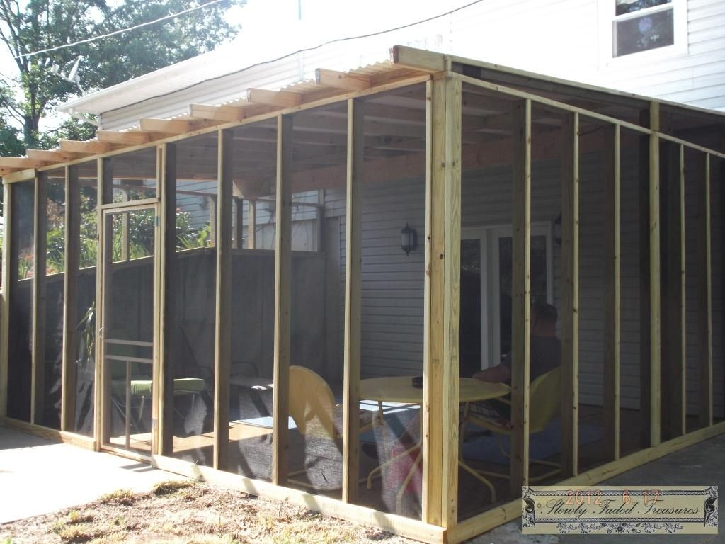 A new room to enjoy building the screenedin porch