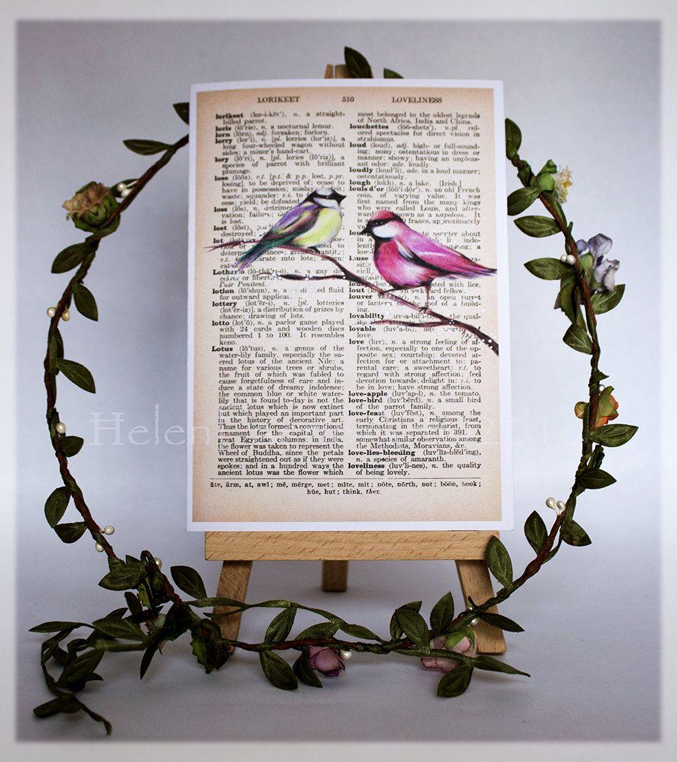 Blank Greeting Card Bird Greeting Card Bird Birthday Card