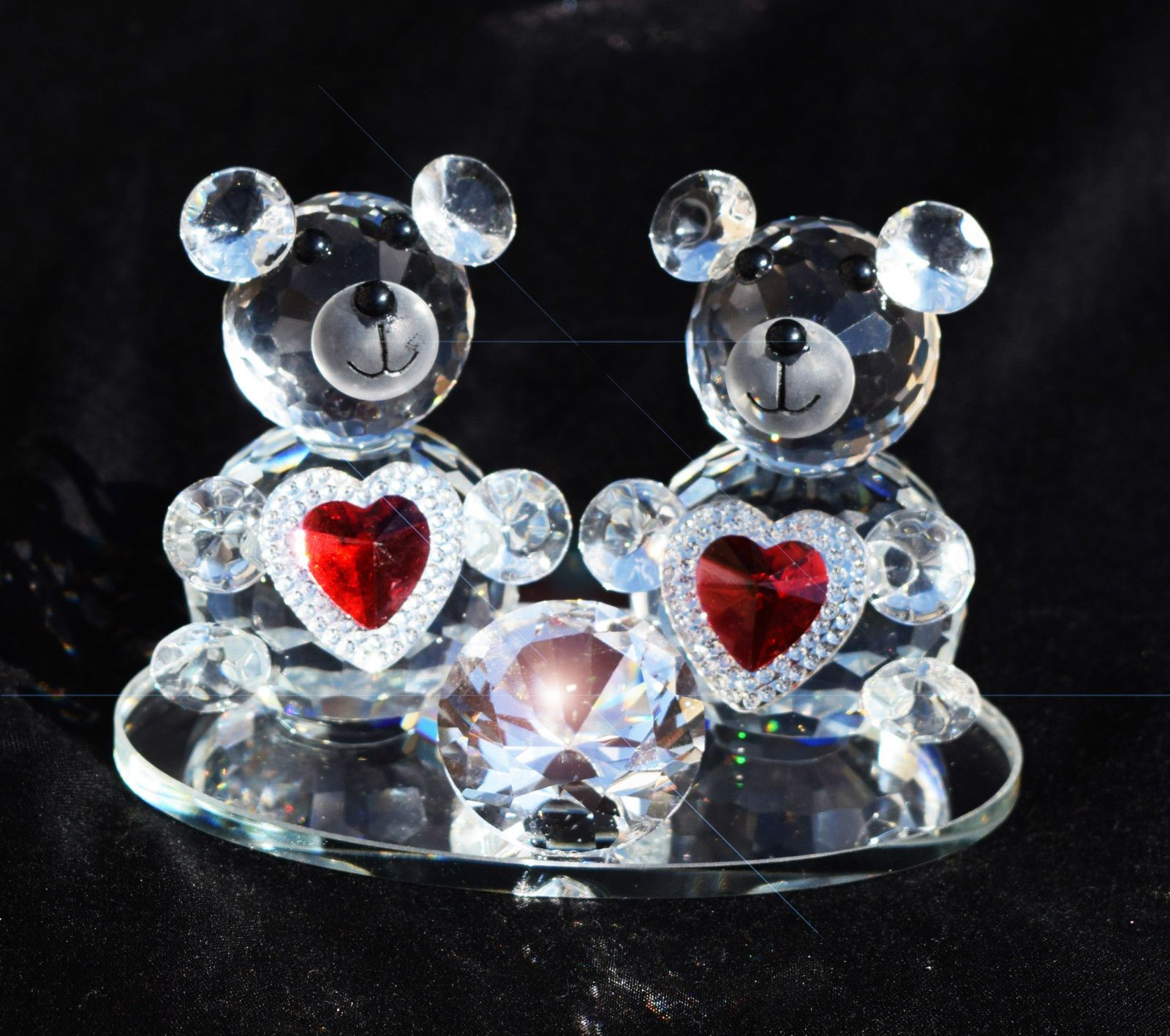 Crystal pair #teddy #bears with red heart i love you #valentine gift with gift bo,  View more on the LINK: http://www.zeppy.io/product/gb/2/262505029101/