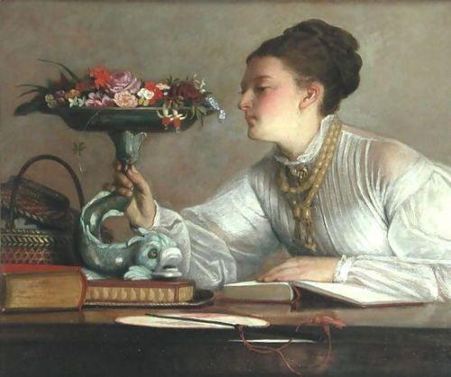 Flores do dia, 1900 William Frederick Yeames (Inglaterra, 1835-1918) óleo sobre tela, 35 x 45 cm