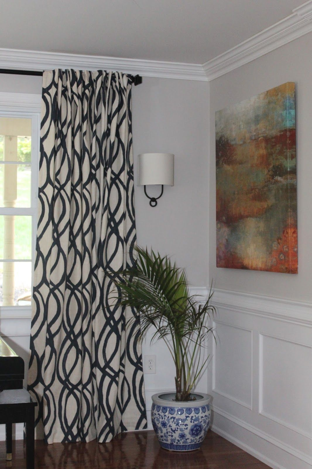 Done 96 West Elm Scribble Curtains In Midnight Blue Hemmed To