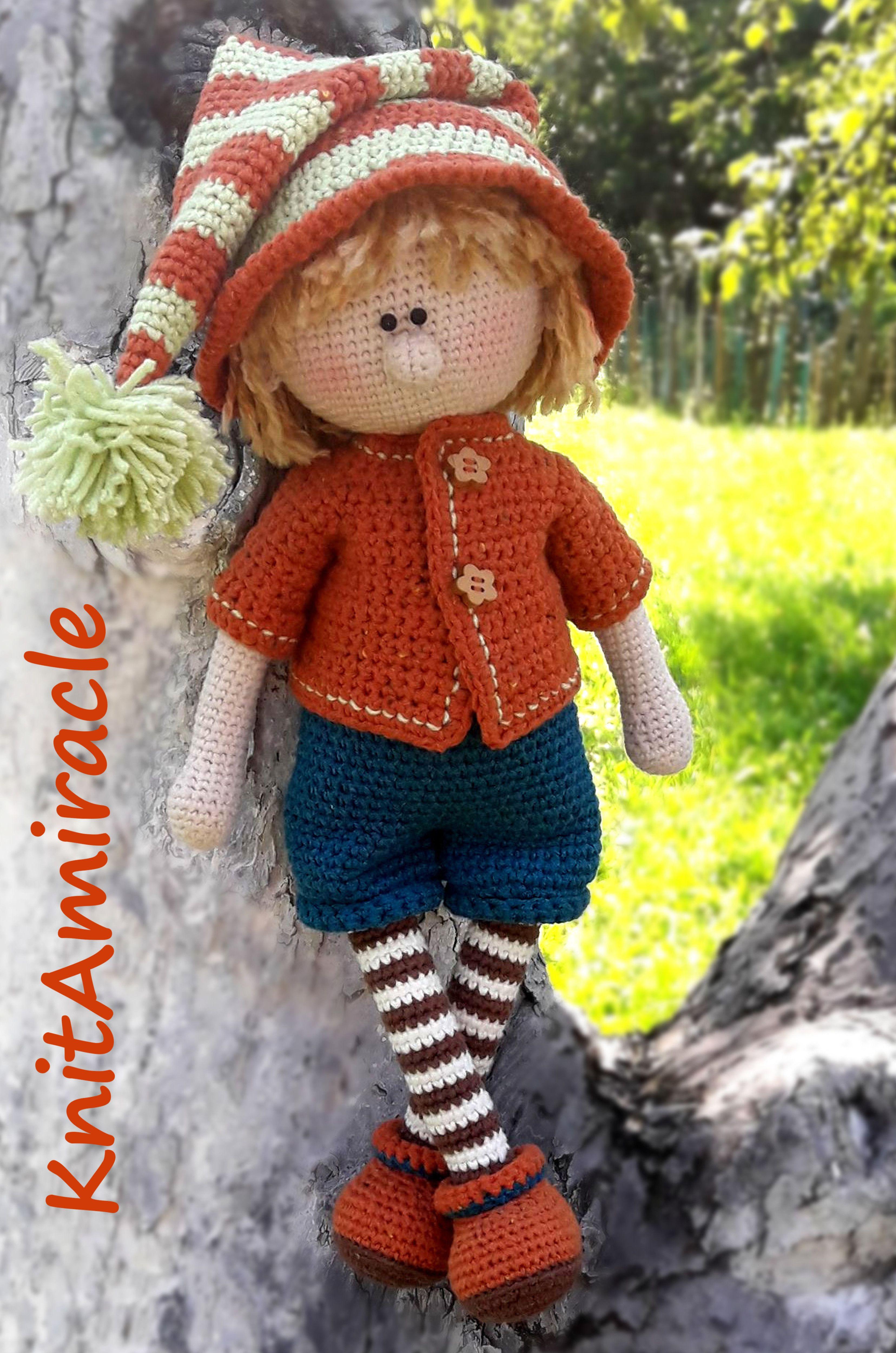 Crochet doll pattern Amigurumi pattern doll Crochet toy PDF Crochet ...
