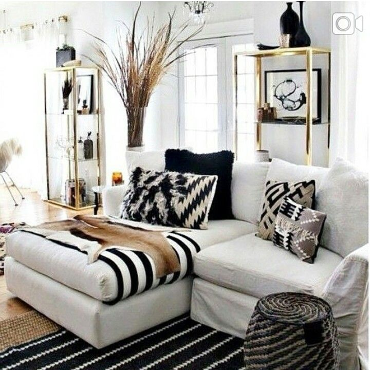 Black and white African inspired living room in 2019 | Black ...