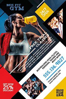 gym free psd flyer template grafika flyer template psd flyer