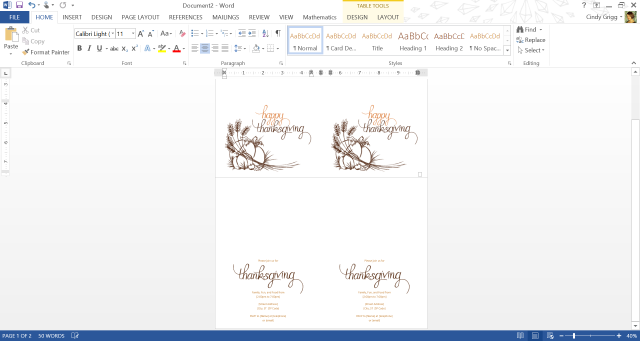 Make Turkey Day Easy With Free Thanksgiving Templates For MS Word