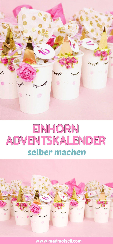 Einhorn DIY Adventskalender basteln Anleitung zum