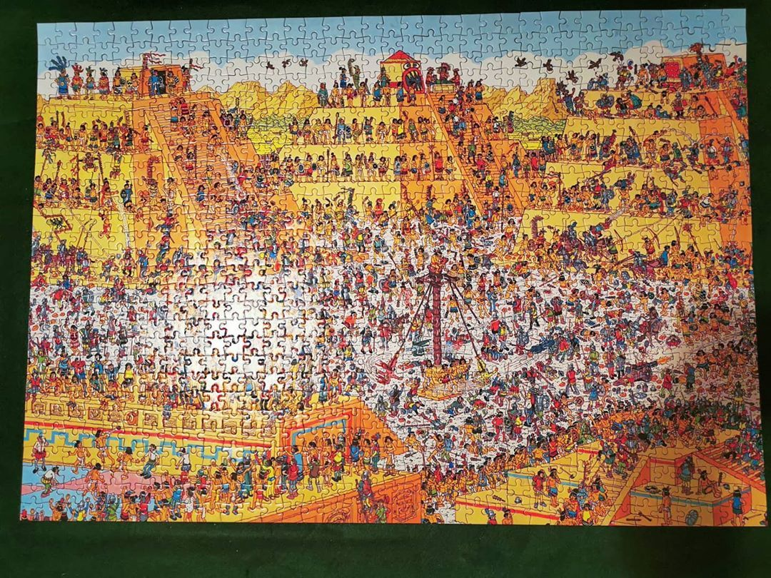 Here Is Another Puzzle From One Of Our Special Customers They Are All Special The Where S Wally The Last Days Of The Aztec Wheres Wally Surrey Board Games