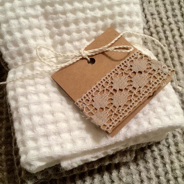 Lovely Linen Washcloth Hand Towel Stonewashed Linen Ideal For Your Bath Spa ($9) ❤  Liked