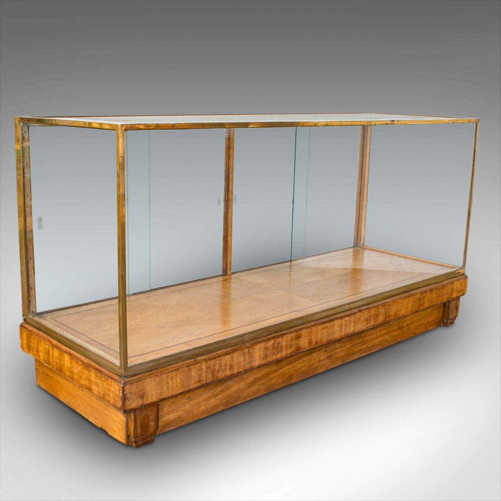 Antique Glass Shopfitting Cabinet, English, Bronze, Retail