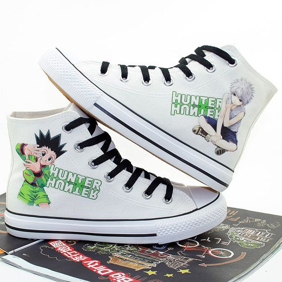 Hunter x Hunter Hand Printed Shoes Cosplay Anime Shoes Gon Freecss Canvas  Shoes High Top sneakers