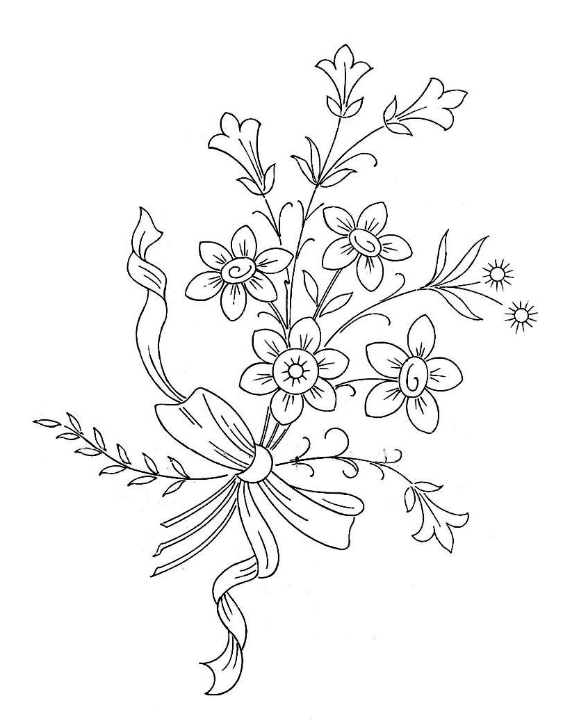 Embroidery Patterns | flores | Pinterest | Bordado, Riscos para ...