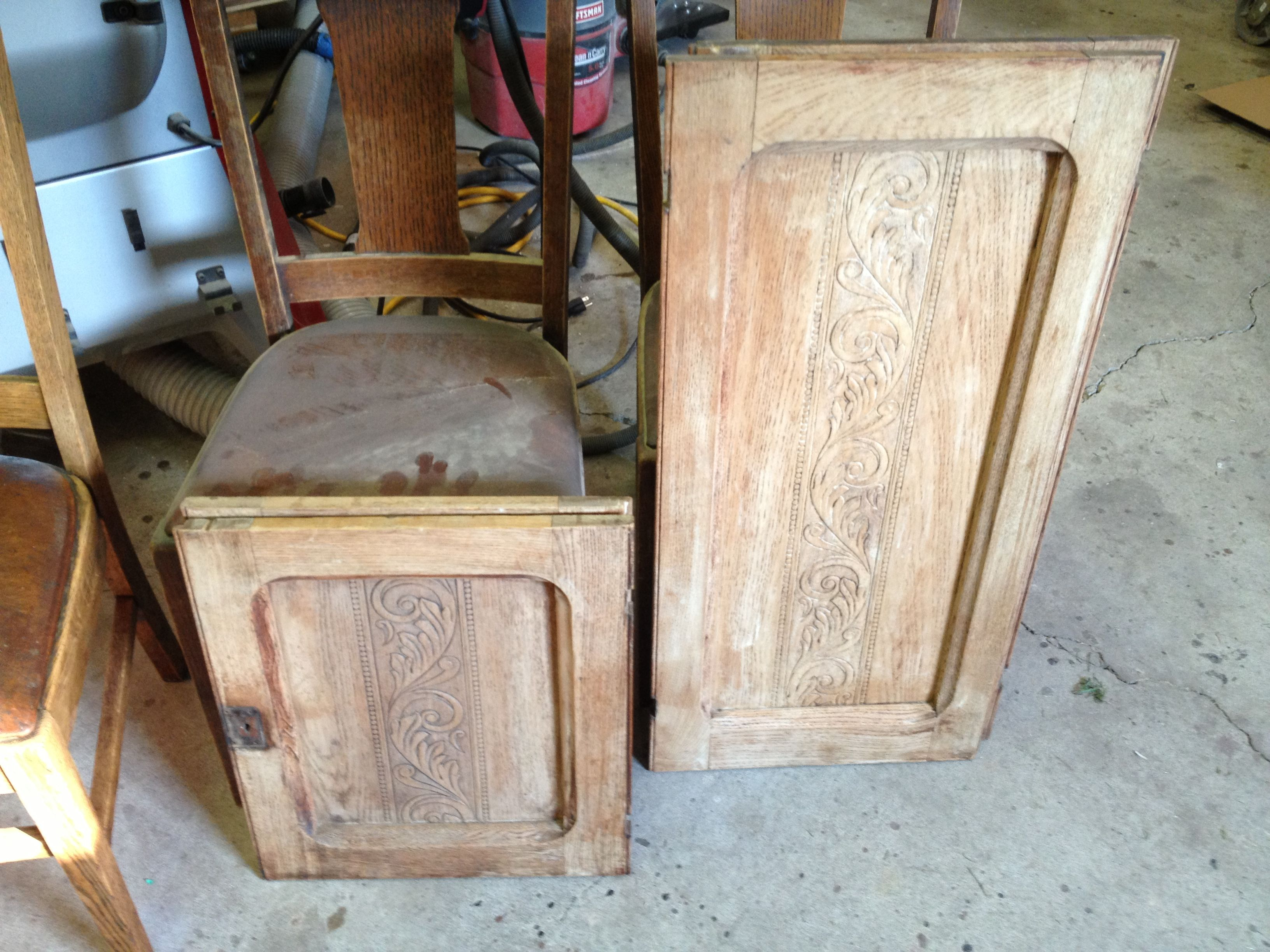 Cabinet Doors With A 30 Year Old Unfinished Stripping Job