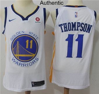 a5801f7e2 Nike Warriors  11 Klay Thompson White NBA Authentic Association Edition  Jersey  WarriorsWeek  DubNation  NBAFinals  WarriorsParade  WarriorsGround  ...