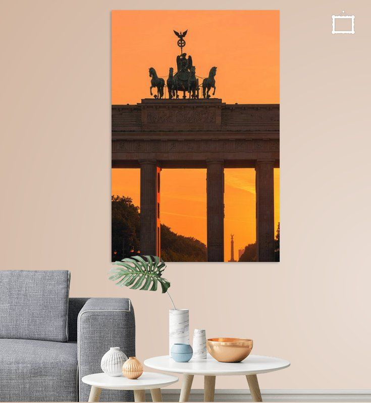 Zonsondergang Bij De Brandenburger Tor Van Henk Meijer Photography Op Canvas Behang En Meer In 2020 Sonnenuntergang Brandenburger Tor Bilder