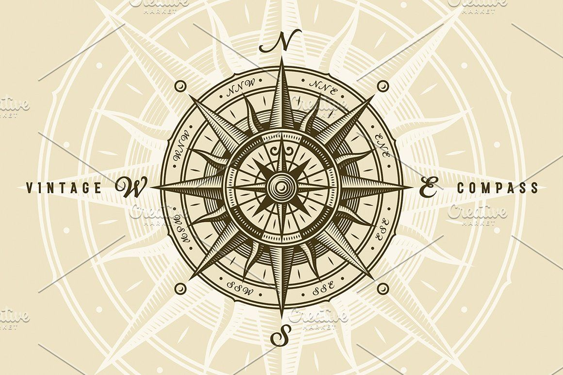 Vintage Nautical Compass Rose Compass Rose Nautical Compass Vintage Nautical