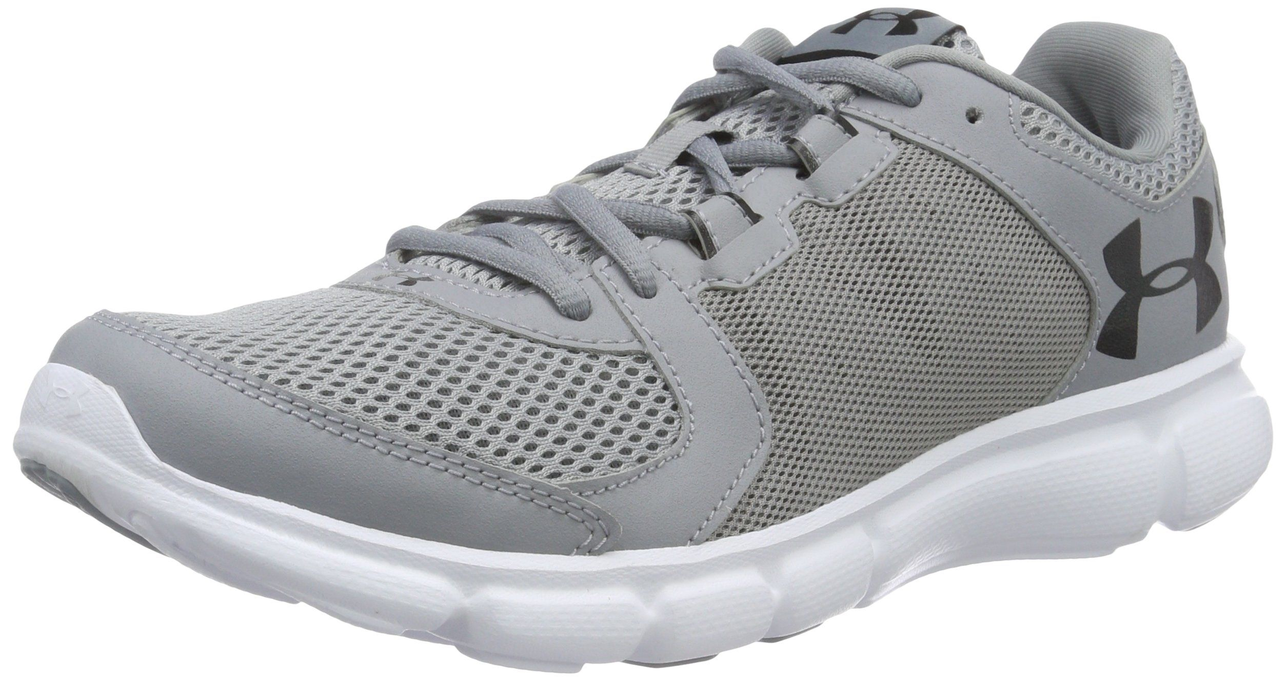Under Armour Men's Thrill 2 Running Shoes, Steel/White, 10 D(M) US.  Breathable mesh upper provides complete ventilation. Midfoot straps add  structure ...