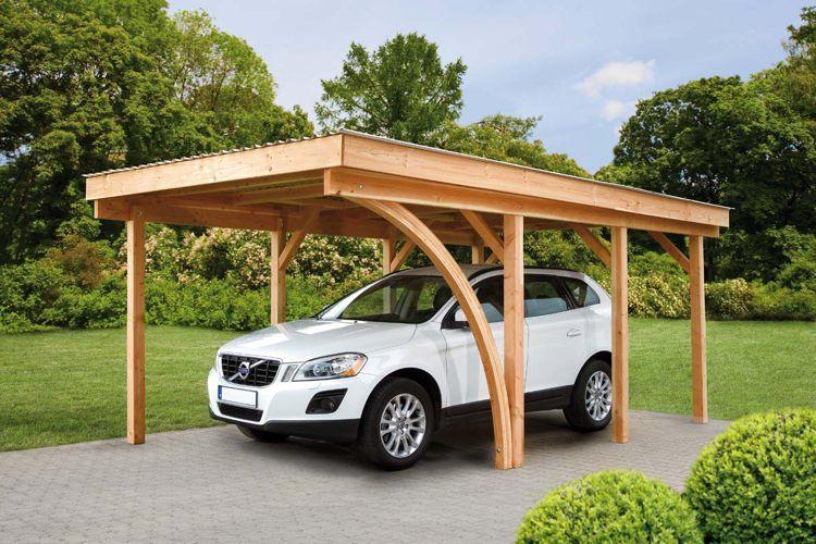 Abri de voiture en bois u2013 18 idées DIY pour abriter son véhicule - prix d un garage en bois
