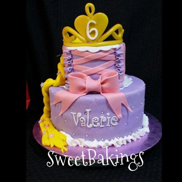 Rapunzel cake Princess Girly Pinterest Rapunzel cake and Cake