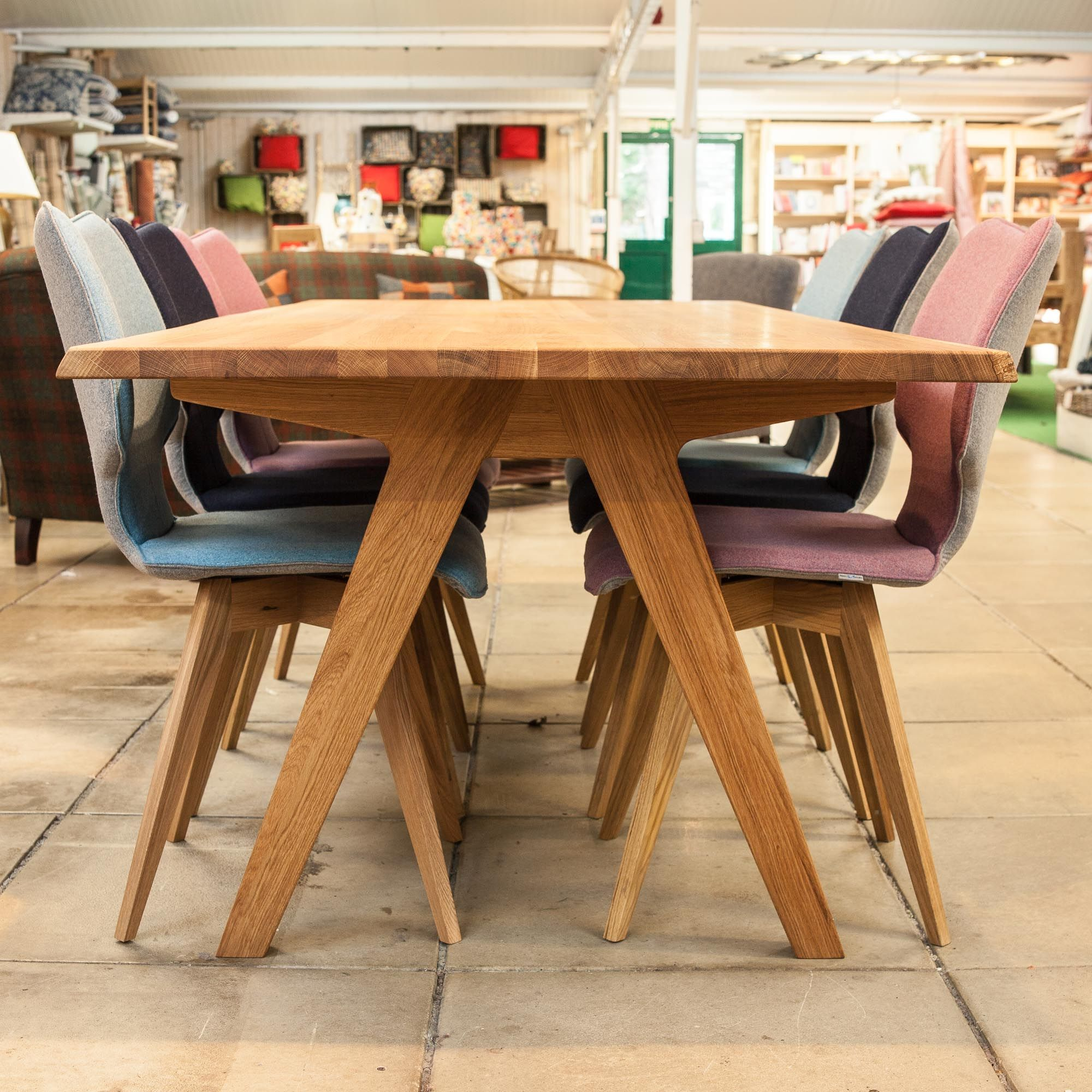 Buy Delta Oak Dining Tables  Unusual Furniture  Burford Garden Glamorous Hardwood Dining Room Furniture Design Decoration