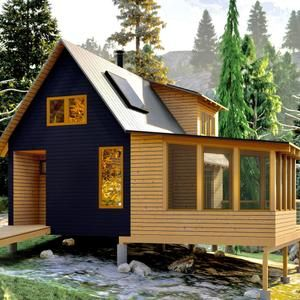 L Shaped Tiny House Container House Plan 32 sqm 345 sqft