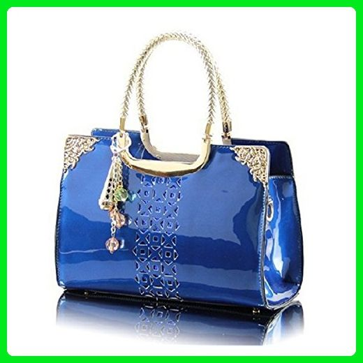 08c2628746 KDHJJOLY Practical Hot New 2016 Patent Leather Handbags Hollow Out Women  Tote Bags Fashion Shoulder Bag Ladies bags handbags women famous brands  Blue Chic ...