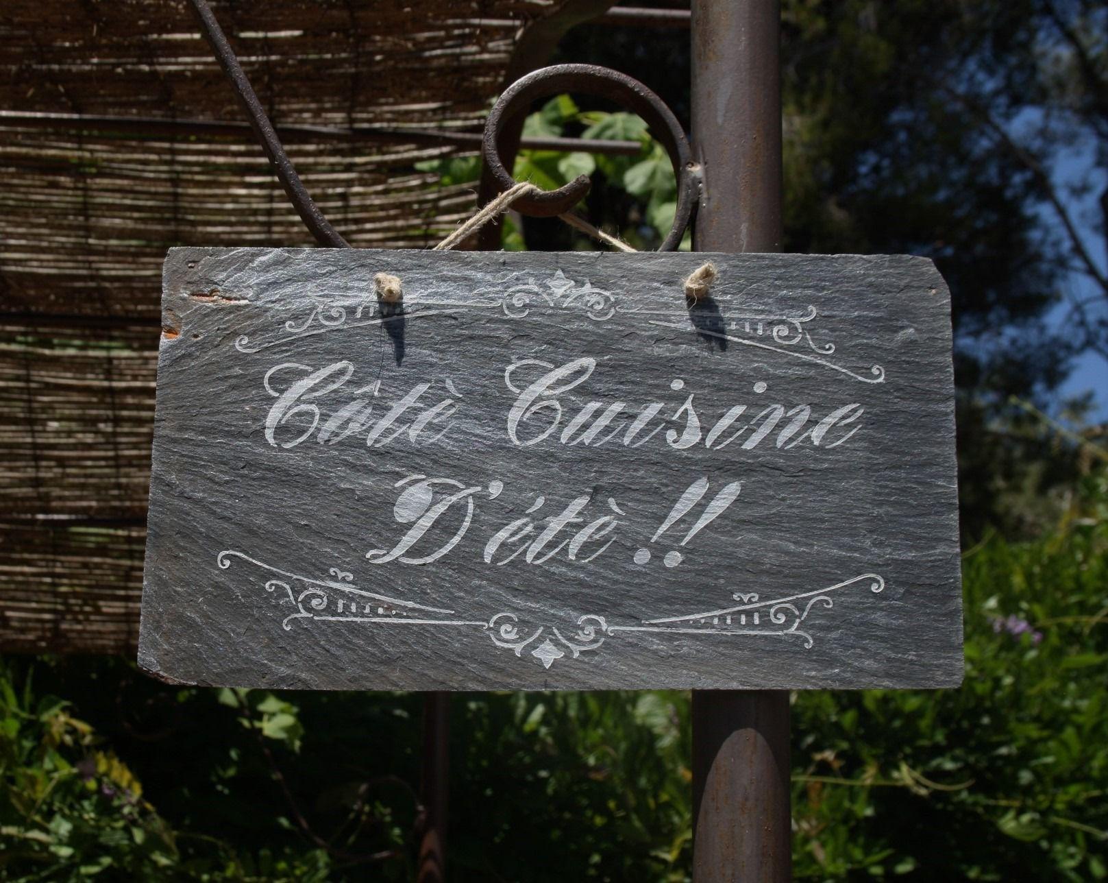 """Ardoise """" Côté Cuisine Dété """" à suspendre : Décorations murales"""