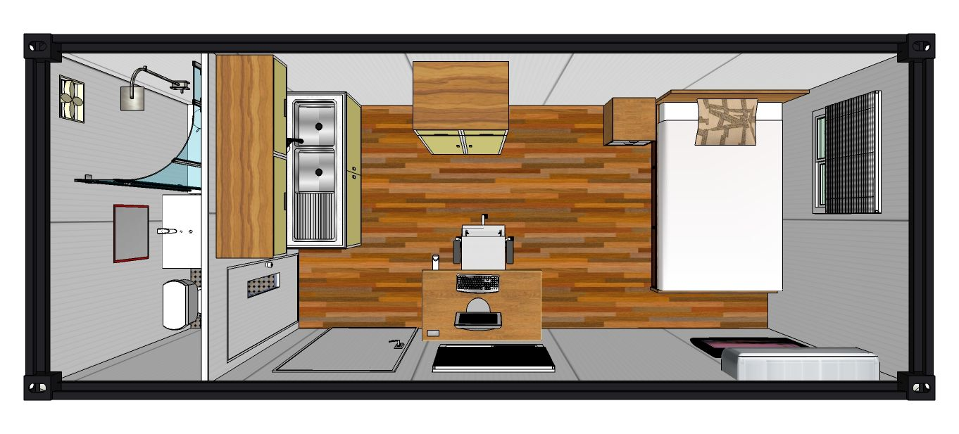 20ft Single Room-floor Plan – CONTAINER HOUSE