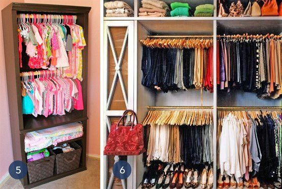 Unique Clothing Organization Ideas For Small Spaces Closet Inspiration Closet Bedroom Small Closet