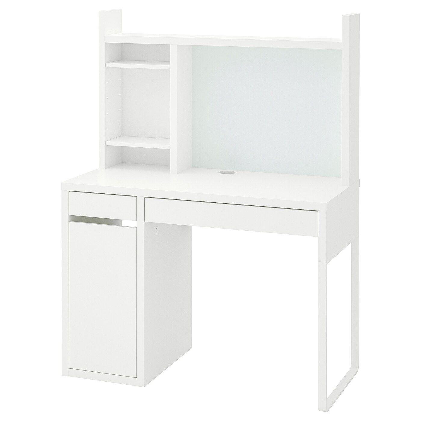 Scrivania Con Cassettiera Ikea micke radni stol - bijela 105x50 cm nel 2020 (con immagini
