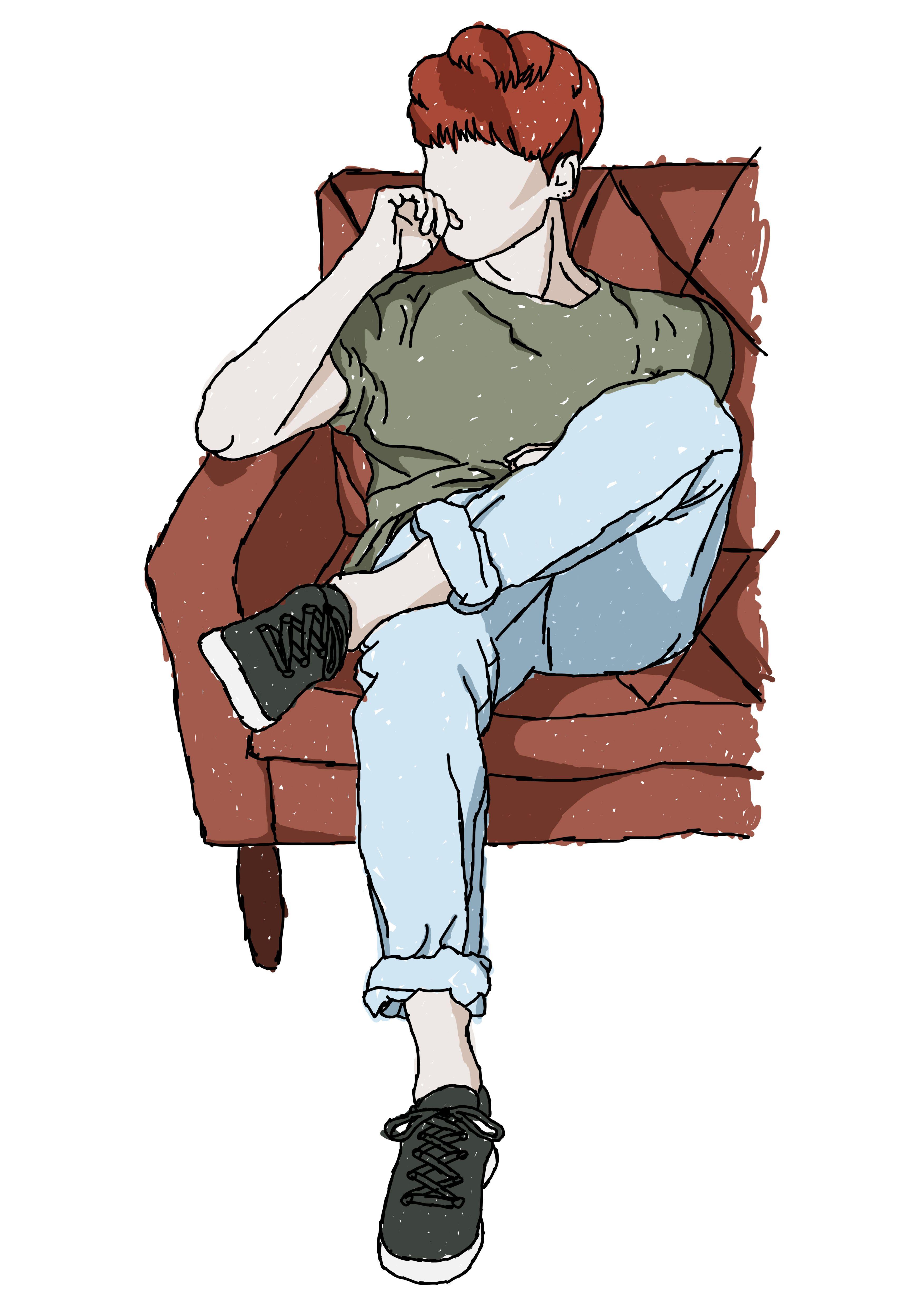 Yoongi - Raw Colour Sketch