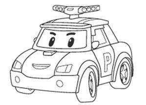 Poli en voiture coloriage pinterest coloriage - Dessin anime de robocar poli en francais ...