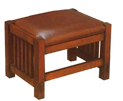 Astonishing Mission Oak Foot Stool Spindles Mission Style Furniture Dailytribune Chair Design For Home Dailytribuneorg