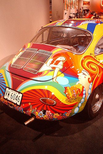 Awesome hippie car by Maria Louise R., via Flickr