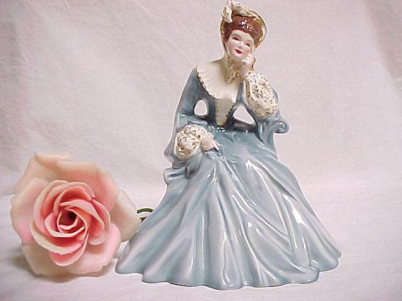 Rare Florence Ceramics Rebecca Figurine California Pottery Vintage Collectible Victorian Lady Figurines California Pottery