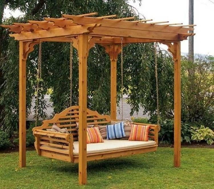 balancelle de jardin 32 exemples pour votre espace ext rieur balancelle de jardin balancelle. Black Bedroom Furniture Sets. Home Design Ideas