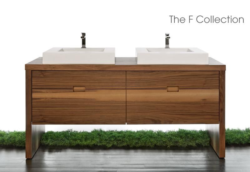 Love The Wood Grain Finish Of This Vanity The F Collection By