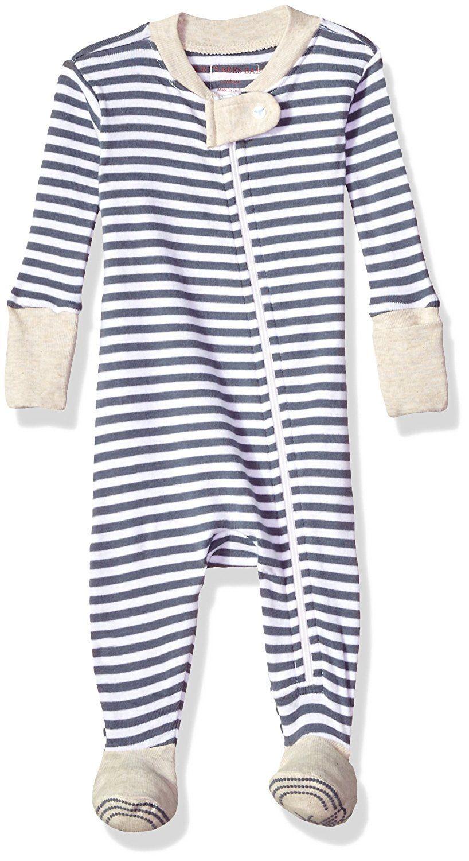 e80a1752a Burt s Bees Baby Baby Boys  Soft Organic GOTS Certified Stripe Zip ...