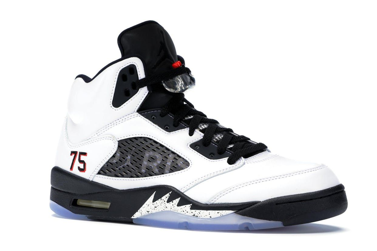 bbdd155e Jordan 5 Retro Paris Saint-Germain White (F&F) | shoes in 2019 ...