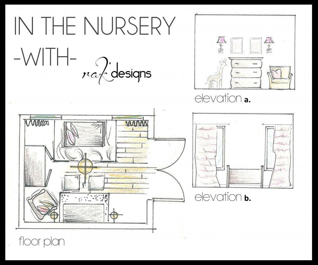 Nursery Drawings Floor Plans And Elevations By Interior Designer Kristin Rieke