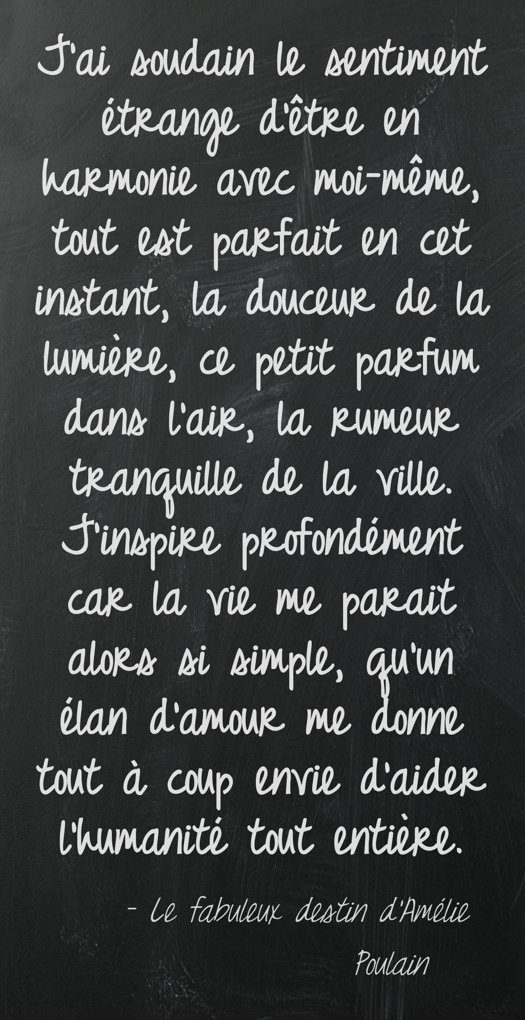 Quote  Le Fabuleux Destin dAmélie Poulain  Citations en français  Pinterest  Quote