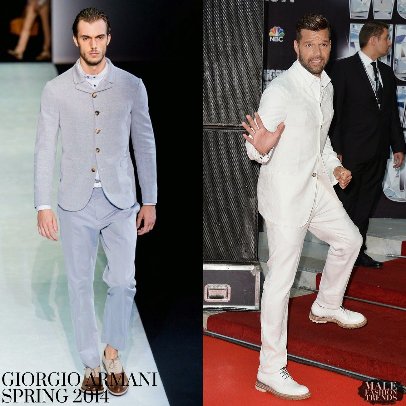 Ricky Martin en Giorgio Armani - World Music Awards 2014 http://bit.ly/1gylGi8