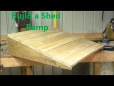 to Build a Shed Ramp Tutorial Stop struggling to get your mower or other heavy equipment back into the shed - here's how to build a shed ramp so you can stop breaking your back...Stop struggling to get your mower or other heavy equipment back into the shed - here's how to build a shed ramp so you can stop breaking your back...